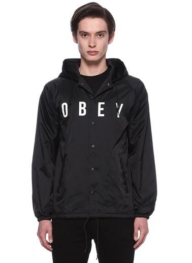 Obey Yağmurluk Siyah